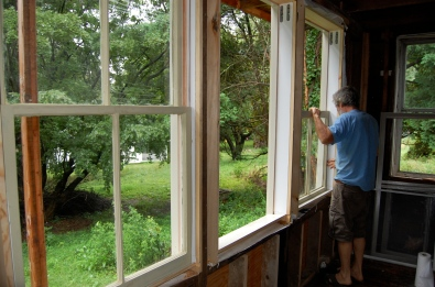 Fitting antique windows to new jambs- salvaging old windows- cold spring ny