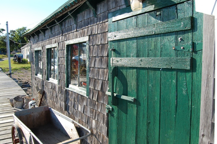 Cranberry Isle Fishing Shack Door