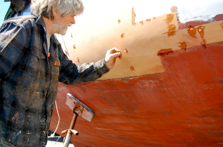 Rot Repair to Cold Molded Wooden Boat