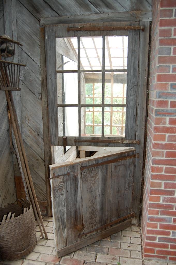 Raw wood Dutch Door