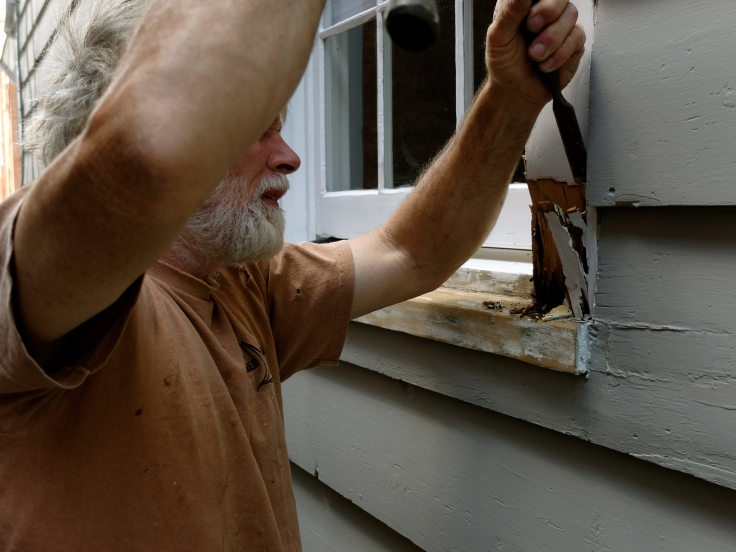 replacing rotten wood on window