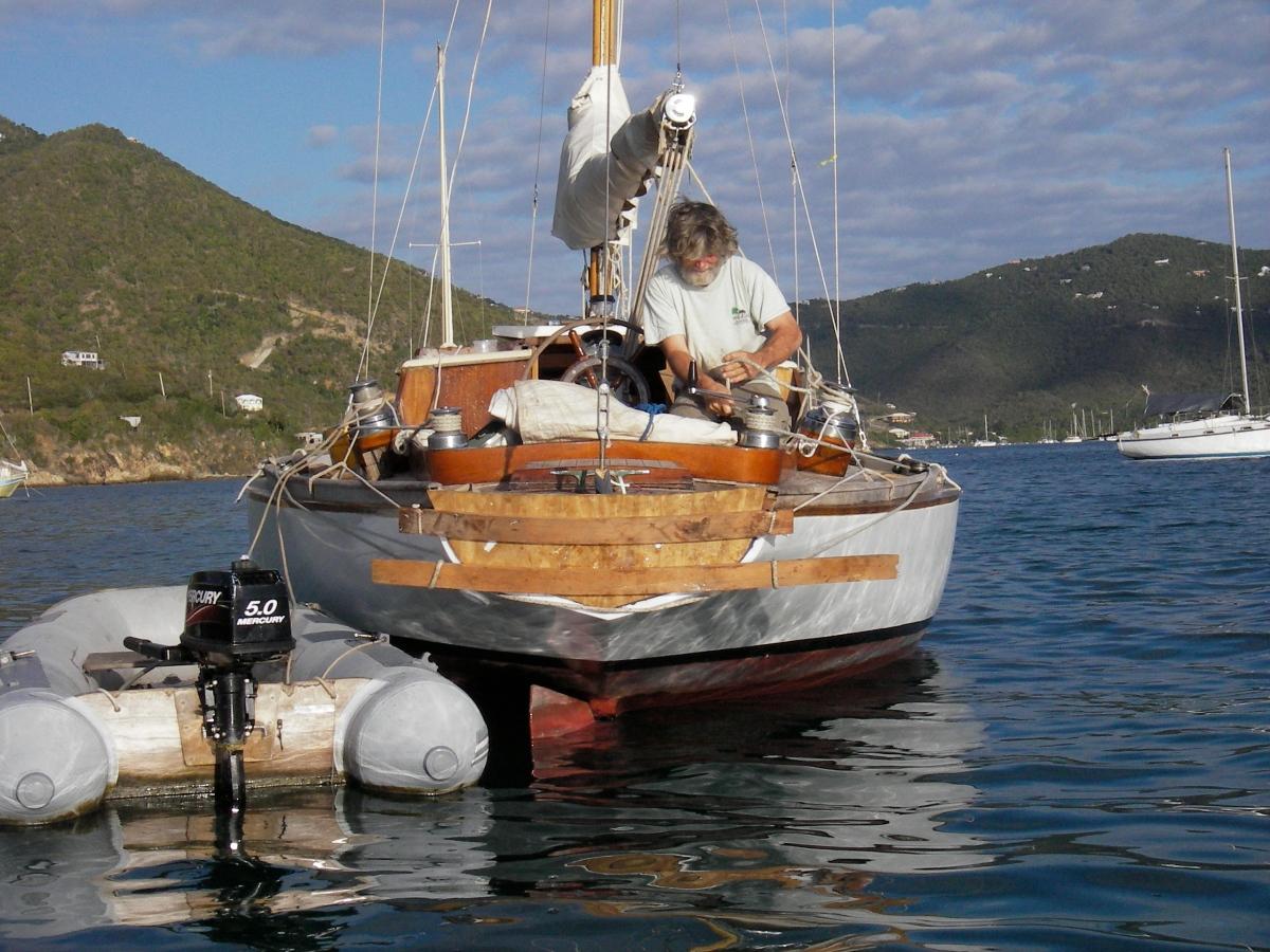 Creative Clamping- wooden boat transom veneer