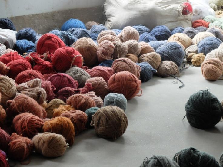 natural dye wool