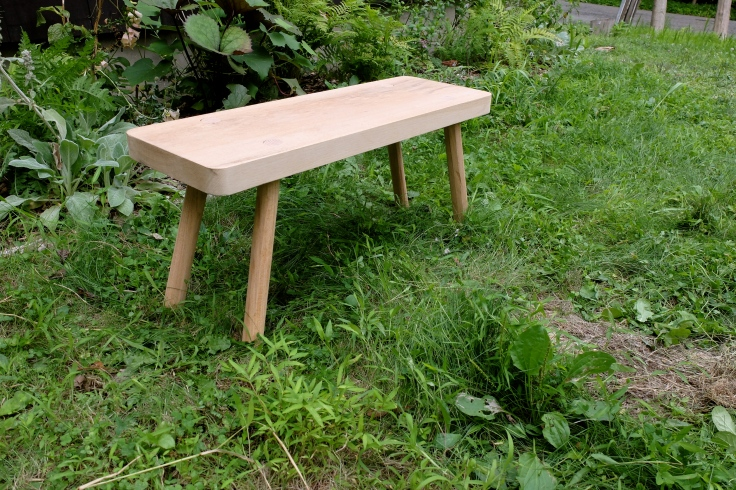 Oak Stool made with dowel legs