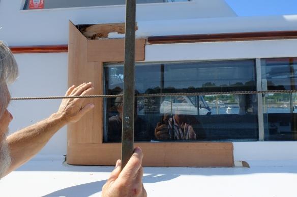 wooden boat Hukins rot repair- new york