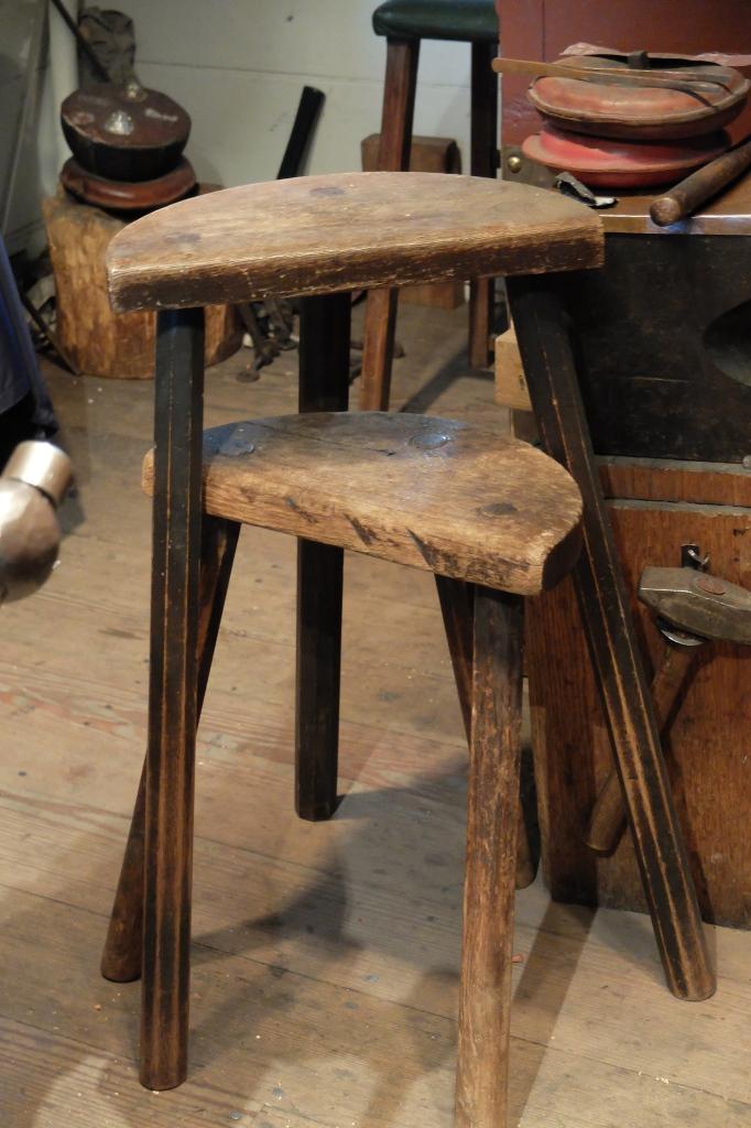 Rustic wood stools
