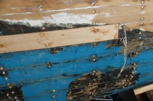 Refastening wooden boat