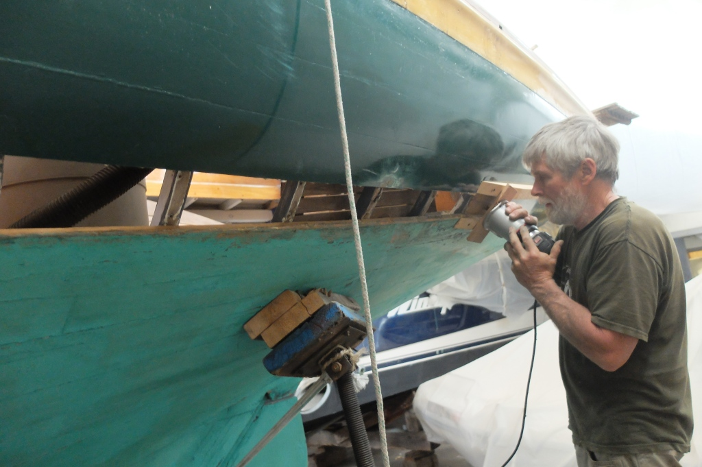 replacing a plank on a s boat