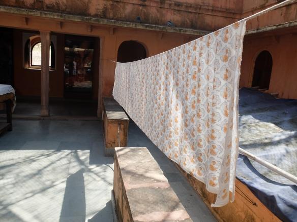 drying hand blocked cotton
