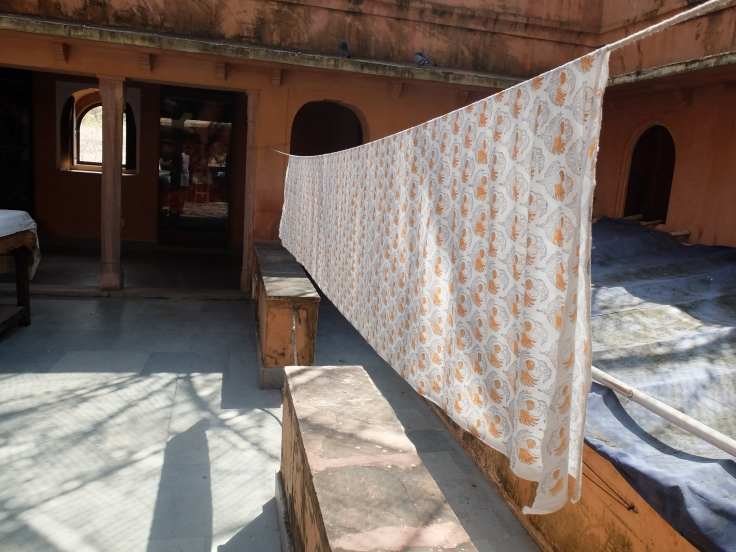drying hand blocked cotton