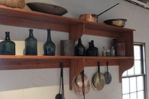 open shelving at Jeffersons Monticello