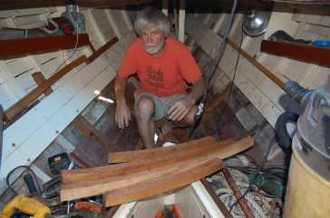 Fitting ribs for a winthrop sailing yacht