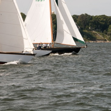 Wooden Boats Sailing The Sound